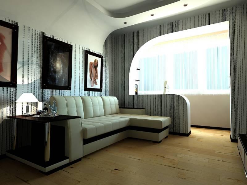 Дизайн однокомнатной квартиры совмещенной с кухней